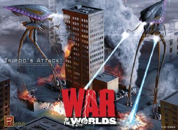 War Of The Worlds Tripods Attack Diorama 1/350th scale Model Kit